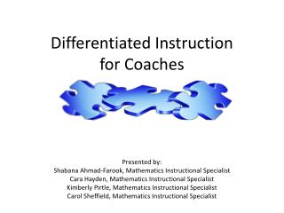Differentiated Instruction  for Coaches