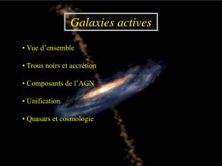 Galaxies actives