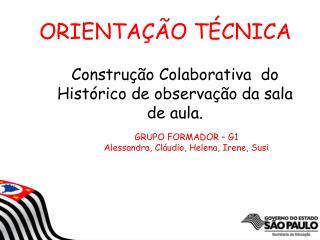 Construção Colaborativa  do Histórico de observação da sala de aula.