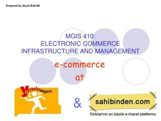 MGIS 410:  ELECTRONIC COMMERCE  INFRASTRUCTURE AND MANAGEMENT