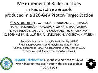 Measurement of Radio-nuclides  in Radioactive aerosols