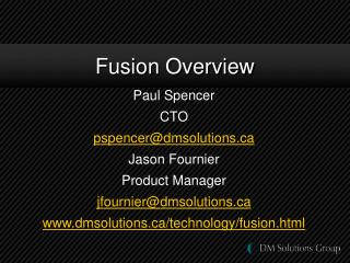 Fusion Overview