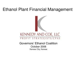Ethanol Plant Financial Management