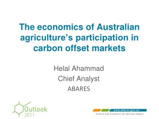 The economics of Australian agriculture's participation in carbon offset markets