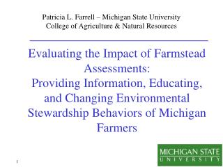 Patricia L. Farrell – Michigan State University College of Agriculture & Natural Resources