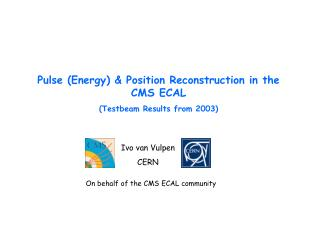 Pulse (Energy) & Position Reconstruction in the CMS ECAL  (Testbeam Results from 2003)