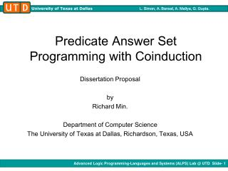 Predicate Answer Set Programming with Coinduction