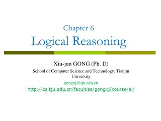 Chapter 6 Logical Reasoning
