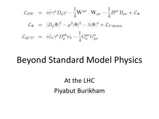 Beyond Standard Model Physics