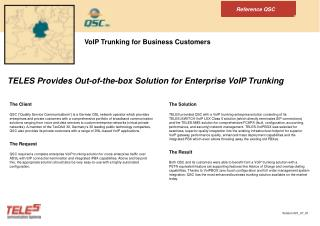VoIP Trunking for Business Customers