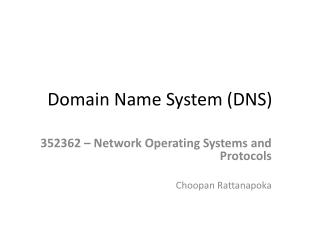 Domain  N ame System (DNS)