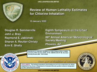 Review of Human Lethality Estimates for Chlorine Inhalation