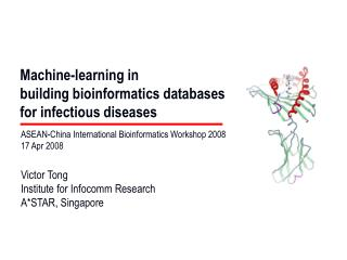Machine-learning in  building bioinformatics databases  for infectious diseases