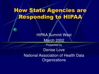 How State Agencies are Responding to HIPAA