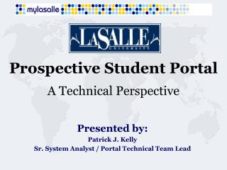 Prospective Student Portal A Technical Perspective