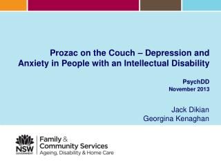Prozac on the Couch – Depression and Anxiety in People with an Intellectual Disability  PsychDD