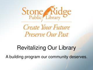 Revitalizing Our Library