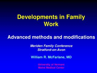Developments in Family Work