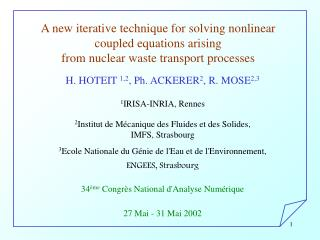 A new iterative technique for solving nonlinear  coupled equations arising
