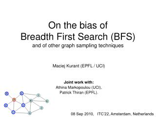 On the bias of  Breadth First Search (BFS) and of other graph sampling techniques