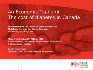 An Economic Tsunami –  The cost of diabetes in Canada