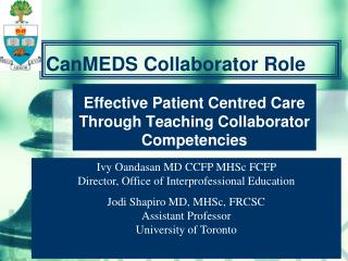 CanMEDS Collaborator Role