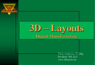 3D – Layouts Digital Manufacturing