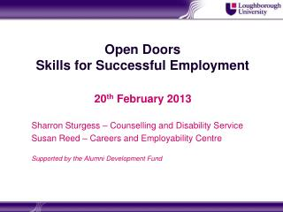 Open Doors Skills for Successful Employment