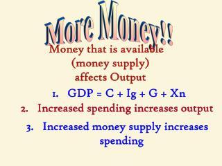 More Money!!