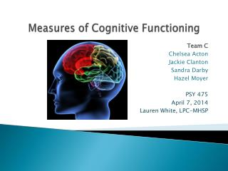 Measures of Cognitive Functioning