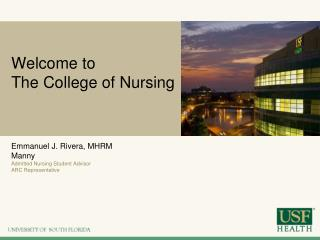 Welcome to  The College of Nursing