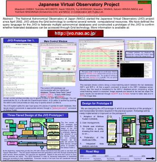 Japanese Virtual Observatory Project