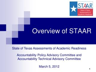 Overview of STAAR