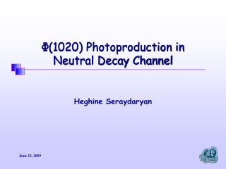 Φ(1020) Photoproduction in  Neutral Decay Channel