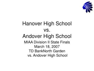 Hanover High School  vs. Andover High School