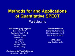 Methods for and Applications of Quantitative SPECT