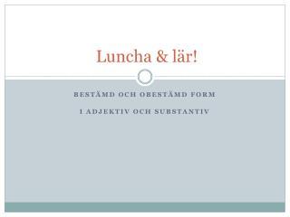 Luncha & lär!