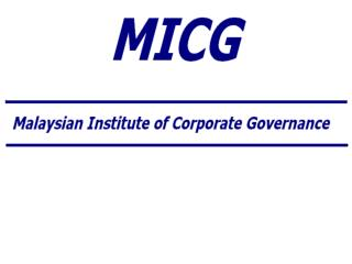 "Egyptian Institute of Directors ""Getting Started"" Case Study from the Malaysian Experience"