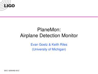 PlaneMon: Airplane Detection Monitor