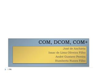 COM, DCOM, COM+
