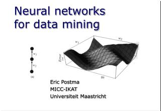 Neural networks for data mining