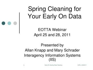Spring Cleaning for Your Early On Data