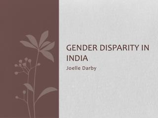 Gender disparity in  india