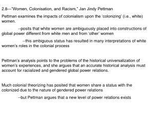 "2.8—""Women, Colonisation, and Racism,"" Jan Jindy Pettman"