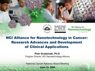 NCI Alliance for Nanotechnology in Cancer: Research Advances and Development  of Clinical Applications