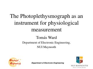 The Photoplethysmograph as an instrument for physiological measurement