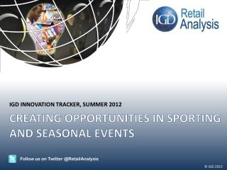 Creating opportunities in sporting and seasonal events