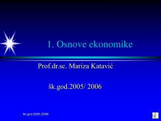 1. Osnove ekonomike