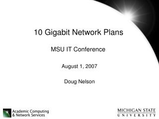 10 Gigabit Network Plans
