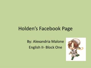 Holden's Facebook Page